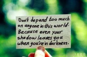 self dependent